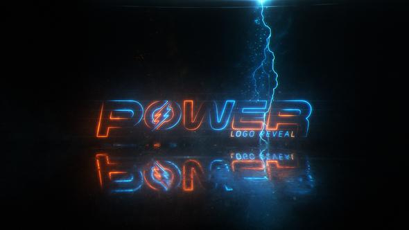 template Power logo Effect