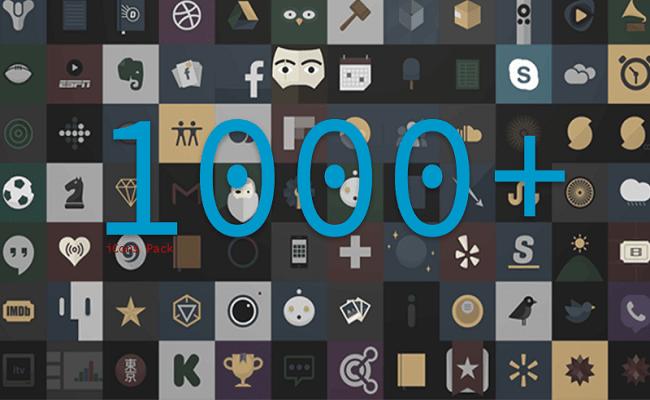 Tải về bộ sưu tâp hơn 1000 icon pack