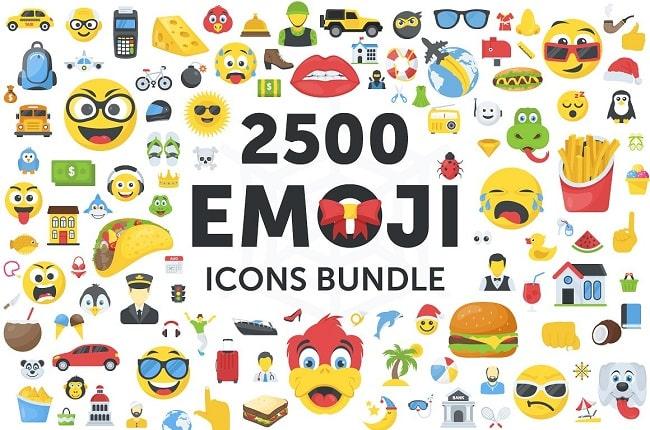 Tải xuống Bộ sưu tập 2500 biểu tượng biểu tượng cảm xúc