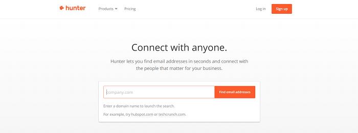 công cụ hunter tìm email