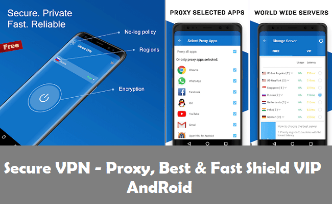 Secure VPN - Proxy, Best & Fast Shield VIP