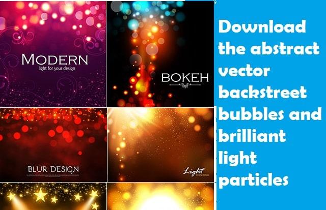 Tải xuống Abstract bong bóng vector và các hạt ánh sáng