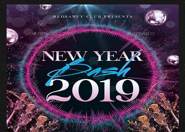 Templates New Year 2019 Bash Flyer