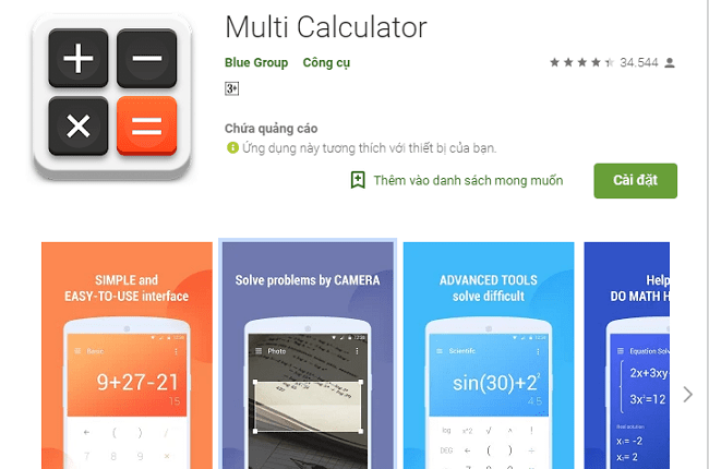 Ứng dụng Multi Calculator