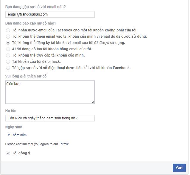 Mở khóa facebook link 723