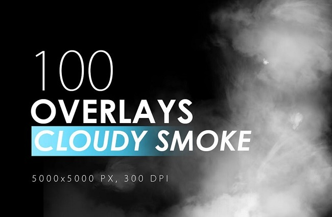 100 Overlays Cloudy Smoke