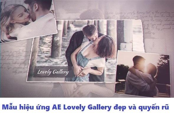 Mẫu hiệu ứng AE Lovely Gallery đẹp và quyến rũ