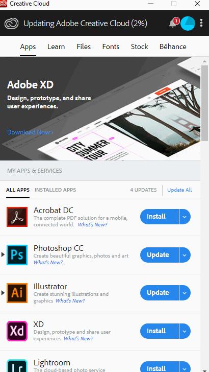 Dịch Vụ Bán tài khoản Adobe Creative Cloud bản quyền