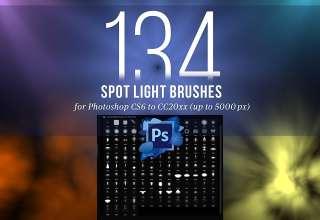Tải xuống 134 Brushes Spotlight cho Photoshop