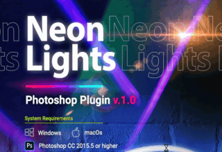 Neon Lights Photoshop Plugin