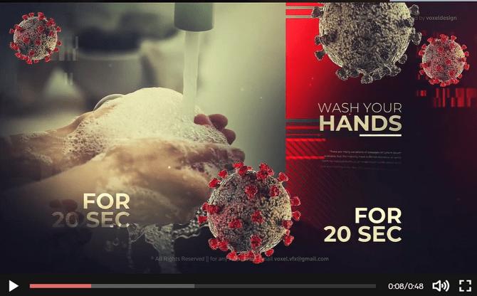 Tải xuống 4 project quảng cáo về vi rút Corona