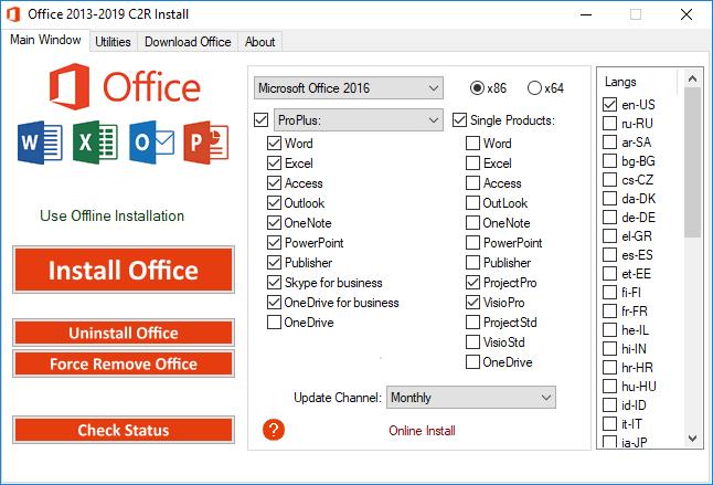 Phần mềm cài đặt Office 2013-2019