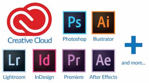 Adobe creative cloud bao gồm những phần mềm nào?