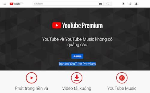 tài khoản youtube premium