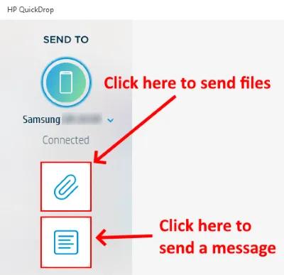 Chia sẻ tệp giữa Điện thoại thông minh và PC chạy Windows 10 bằng HP QuickDrop