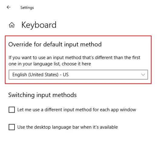 Sửa lỗi Bàn phím gõ sai chữ cái trên Windows 10