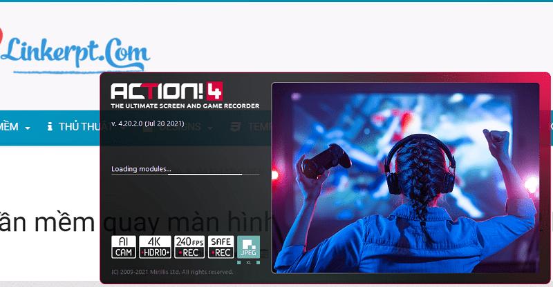 Phần mềm quay màn hình Mirillis Action v4