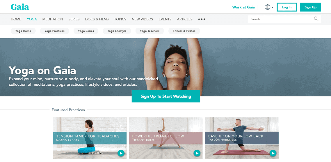 Dịch vụ Yoga của Gaia
