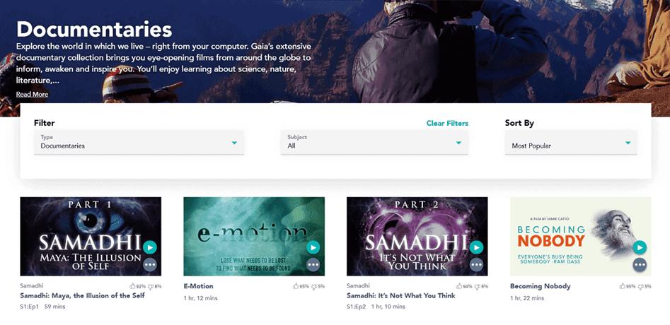 Gaia cũng có nội dung phim khá phong phú