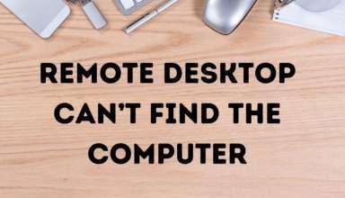 Máy tính từ xa không thể tìm thấy máy tính