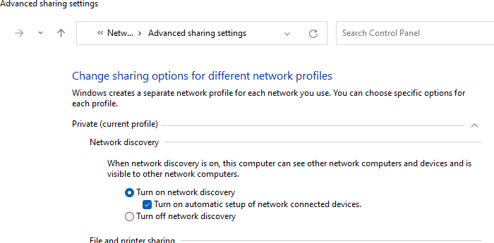 Network Profile để công khai