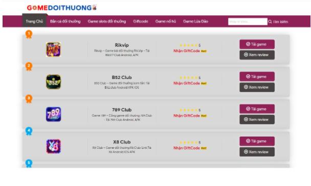 Truy cập gamedoithuong.vip - Trang web chuyên đánh giá game đổi thưởng